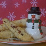 Cranberry Ginger & White Chocolate Biscotti