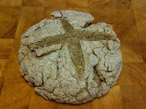 a loaf of irish soda bread