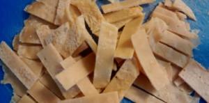 Chickpea Crepes cut into sticks