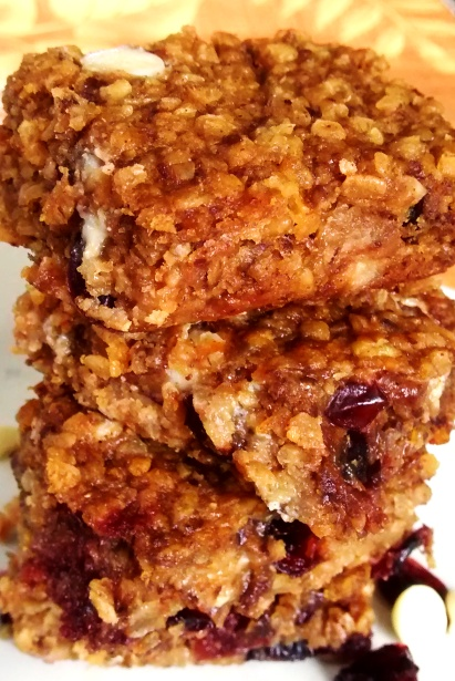 Pumpkin Oat Power Bars with Cranberries and White Chocolate - Ketchup ...