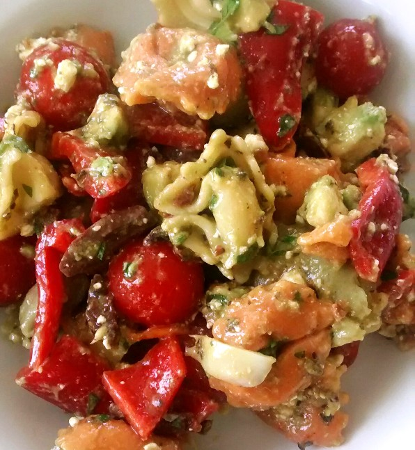 Tortellini Salad with Avocado and Feta