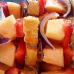 Meatless Monday: Sweet Chili Tofu Kebabs with Melon and Peppers